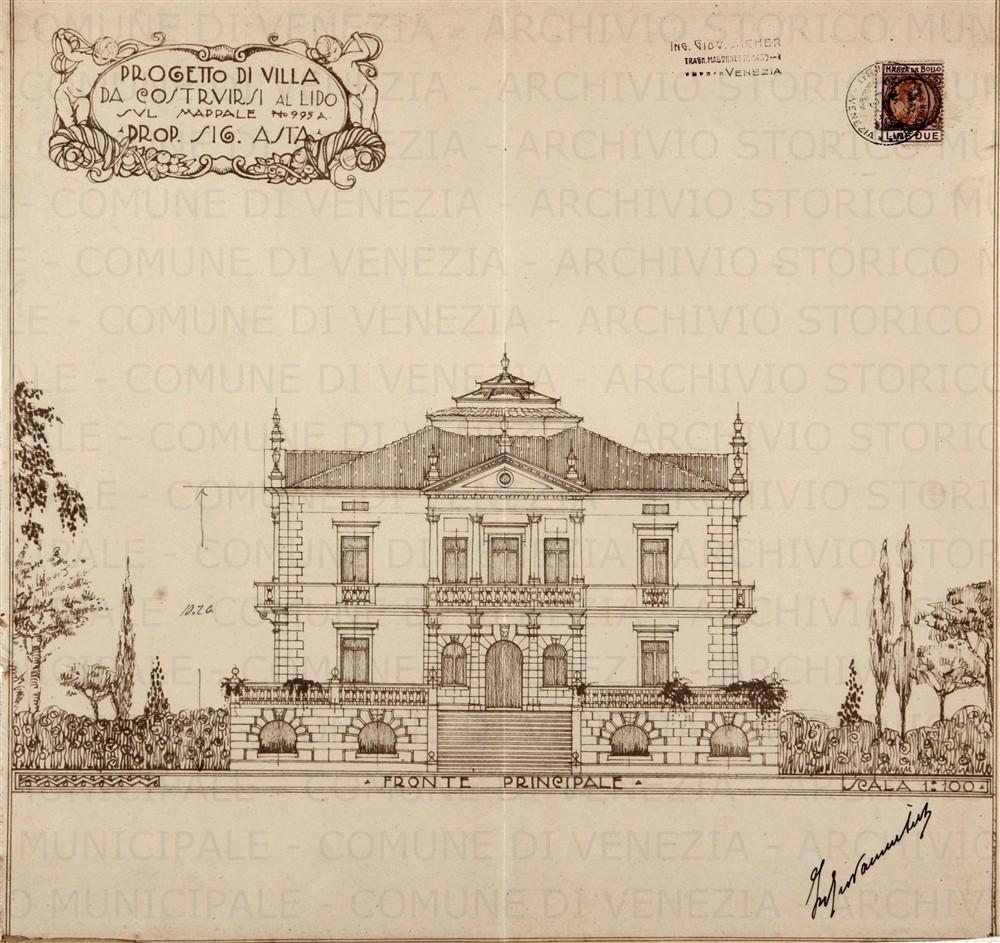 fronte villa Asta 1925